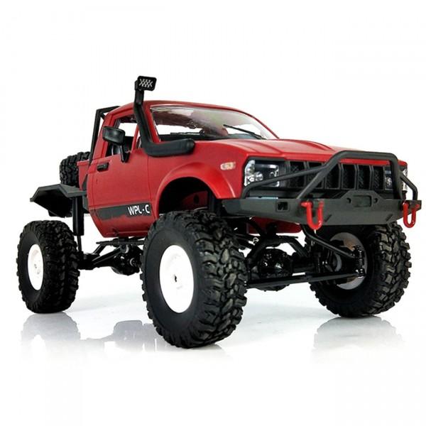 s-idee® Offroad Truck mit 2,4 GHz 4WD bis 10 km/h 1:16 rot